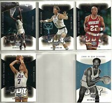 2001-02 UD NBA Legends 8-card Yearbook Insert Lot   Pete Maravich   Bill Russell