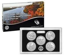 2017-S Silver ATB Proof Set 5 Coin Box And COA Mint Fresh Set