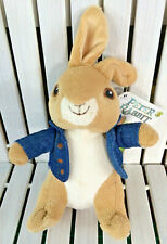 "Peter Rabbit The Movie 2018 Spring Clip Hook Soft Toy 7"" Blue Jacket Whitehouse"