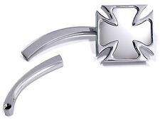 Mini Specchietto Croce Maltese Di Ferro Cross Cromo f. Harley Honda Suzuki Altro