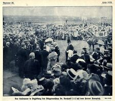 Kaisertage in Hamburg 1908 Kaiserpaar mit Dr.Burchard auf dem Horner Rennplatz