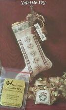 Just Nan Yuletide Ivy Stocking Cross Stitch Chart & Emb. Pack
