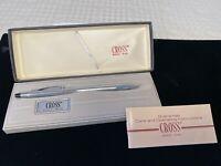 New in Box Vintage CROSS PEN #3502 Chrome Ball-Point Pen