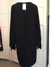 H&M Black Pearl Shift Dress Size 12