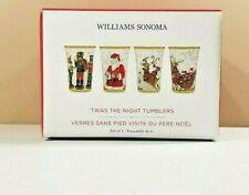 S/4 Williams Sonoma Twas Night Before Christmas Mixed Tumbler Set NEW