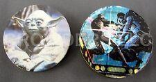 Vintage Brass Slammers Star Wars Yoda & Darth Vader vs Luke Skywalker Milk Caps