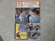 CARTE FICHE CINEMA 2009 (500) JOURS ENSEMBLE Joseph Gordon Levitt