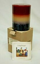 Longaberger 3 x 4 American Breeze Pillar Candle New in Box with Certificate