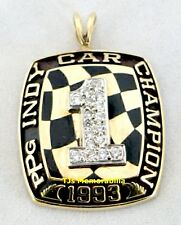 1993 PPG INDY CAR NATIONAL CHAMPIONS CHAMPIONSHIP RING TOP PENDANT 10K GOLD PSA