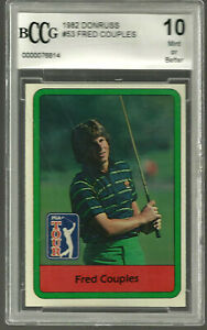 1982 Donruss #53 Fred Couples Rookie Golf Card Graded Beckett BCCG 10 MINT BGS
