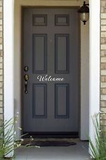 Welcome cute Door vinyl decal sticker home decor decoration welcome house entry