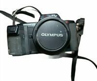 Olympus OM77AF 35mm Film Camera AF Zoom 35-70 Lens With Case PARTS ONLY UNTESTED