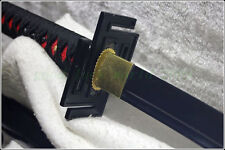 Japan Ninja Sect Shrine Samurai Sword Katana Carbon Steel Black Blade Hand Forge