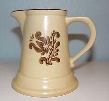 Vintage Pfaltzgraff Village Creamer Brown Floral Clean and Marked USA