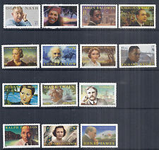 US Literary Arts Series S/A Set of 14, Nash James O'Connor Twain 2002-2016, MNH*