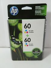 Sealed Genuine OEM HP 60 Tri-Color Ink Jet Cartridge Double Pack CZ072FN 06-2019