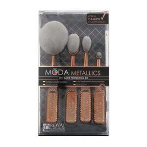 Royal & Langnickel Moda Metallics 4 Piece Face Perfecting Kit Rose Gold