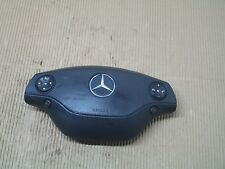 Mercedes Benz S CL Class W221 W216 Leather Steering Wheel Airbag Black OEM S550
