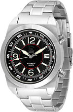 Lew and Huey Acionna Automatic 200M Divers Watch Black, White & Red. UK Seller