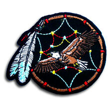 Eagle Dream Catcher Patch Iron On Feather Harley Biker Motorcycle Tattoo Navajo