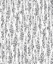 Mosaic Effect Black White Grey Textured Glitter Kitchen Bathroom Wallpaper