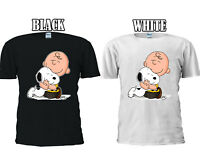 Snoopy And Charlie Brown Love Huging T-shirt Baseball Vest Men Women Unisex 2704