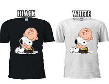 Snoopy And Charlie Brown Love Huging T-shirt Baseball Vest Men Women Unisex 2704