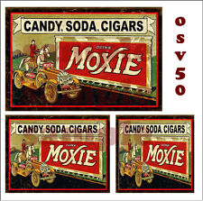 WEATHERED WATERSLIDE BUILDING SIGN DECALS MOXIE SODA STORE  O SCALE OSV50