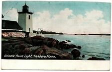 Grindle Point Light Ilesboro Maine Vintage Postcard H.C. Leighton Germany 1638