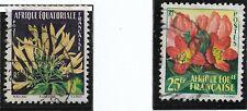 France Colonies Afrique Equatoriale Française AEF YT 243 et 244 Obl