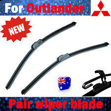 Pair Frameless Windscreen Wiper Blade For Mitsubishi OUTLANDER ZJ ZK 2013 2016