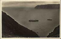 Hornviken Norwegen Norge Finnmark AK ~1930 Fartyg Dampfer Nordkap Fjord Schiffe