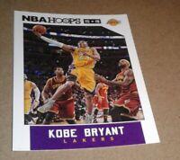 2015-2016 NBA Hoops, Kobe Bryant #172 (LeBron James on card) Los Angeles Lakers