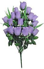 "Large Lavender Rose 23"" Bouquet Wedding Home OfficeDecor Artificial Flower Leaf"