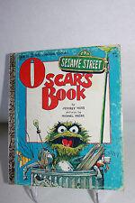 Sesame Street: Oscar's Book-A Little Golden Book ©1975 Fourth Printing 1976