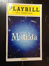 PLAYBILL - ROALD DAHL'S MATILDA THE MUSICAL Broadway September 2014