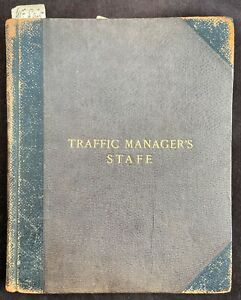 Southampton Docks c.1880's/1920's Traffic Manager's Staff Record Book
