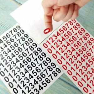 Vinyl Number Stickers, 0 -9, 10 Sets Self Adhesive sticky Decals X9P2