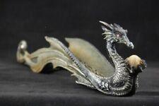Fantasy Figur Schimmernder Drache Räucherstäbchenhalter 29 cm lang