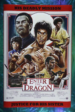 Enter The Dragon Bruce Lee Movie Art Poster 24X36 New Fungfu Martial Art Edbl