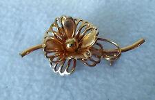 pin brooch 12 Kt G.F. Forstner Fashion gold tone Flower