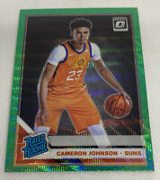 2019-20 Optic CAMERON JOHNSON Fanatics  Prizm Green Wave SP RC Rated Rookie #200