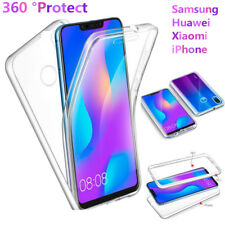 360° Protective Full Cover Soft Silicone Front+Hard Back Case For Smart Phone