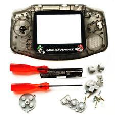 GBA Nintendo Game Boy Advance Replacement Housing Shell Screen Clear Black Mario