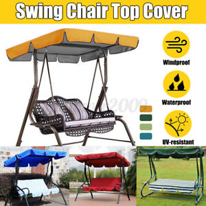 2 3 Seater Anti-UV Swing Top Cover Canopy Replacement Garden Patio Outdoor Yard
