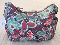 Vera Bradley On The Go Crossbody Purse Nomadic Floral Travel Cotton NWT MSRP $70