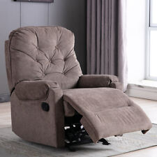 Leather Manual Recliner Armchair Sofa Overstuffed Chaise Lounge Cushion Seat