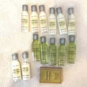 14 Crabtree & Evelyn Verbena Lavender Travel Shampoo, Conditioner, Soap, Lotion