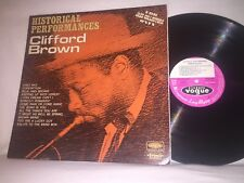 CLIFFORD BROWN - HISTORICAL PERFORMANCES JAZZ COLLECTORS  VOGUE RECORDS STEREO