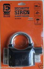PADLOCK ALARM110db VERY LOUD /BOX TRAILERS/CAR TRAILER IN BLACK